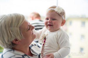 przed chrztem z babcią