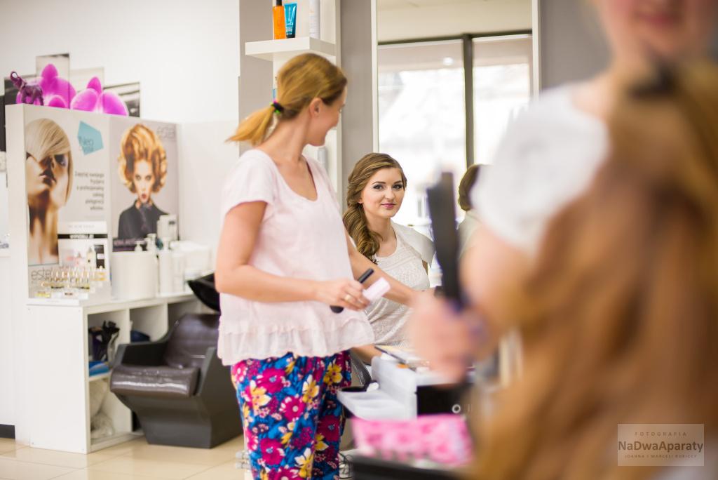 przygotowania fryzjer ślubny