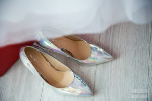 zdjęcie ślubne butów panny młodej