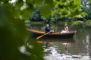plener na łódce w wilanowie