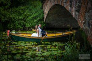 zdjęcia ślubne w łódce warszawa wilanów