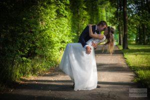 zdjęcia ślubne w parku w wilanowie
