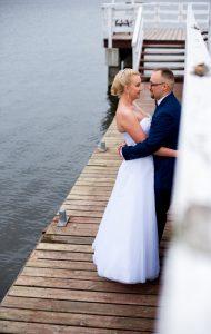 zdjęcie ślubne na pomoście