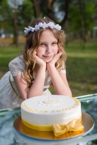 zdjęcia na komunii tort
