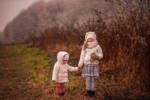 sesja dziecięca jesienią